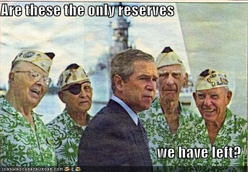 george w bush,military,Republicans,Reserves,soldiers
