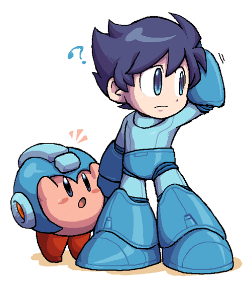 kirby,mega man