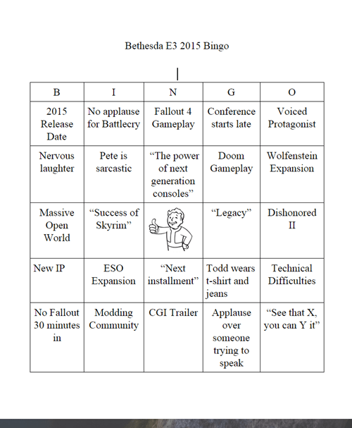 video-games-be3-bingo