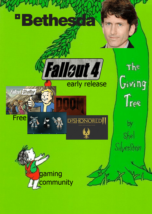 Green - Bethesda Fallout 4 The early release ving Fallaut Shelter Tree DOOM Free DISHONORED by Shel Siherstean gaming community