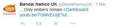 video game news e3 bandai namco uk dark souls 3 tweet