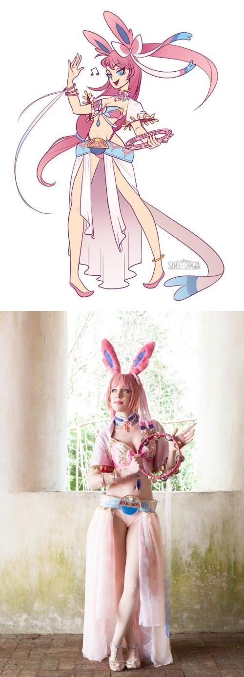 pokemon memes sylveon gijinka cosplay