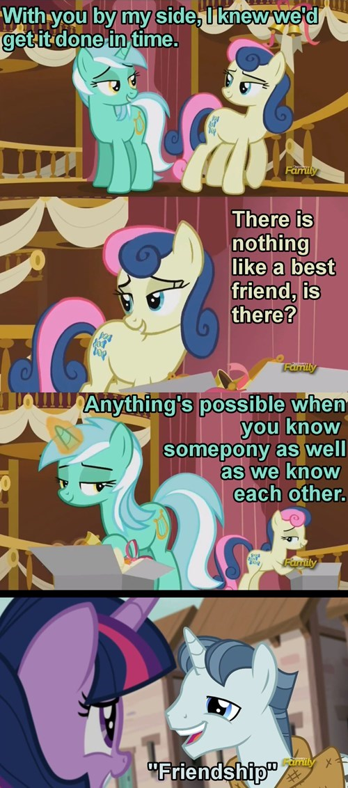 lyra,ship,bon bon,more than friends