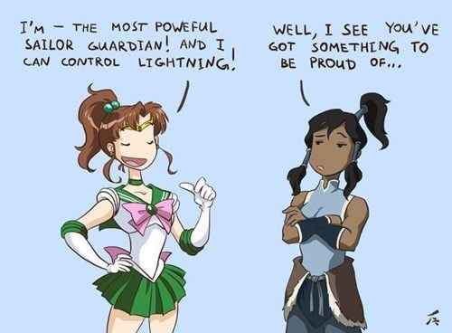 crossover,Fan Art,sailor moon,Avatar,korra
