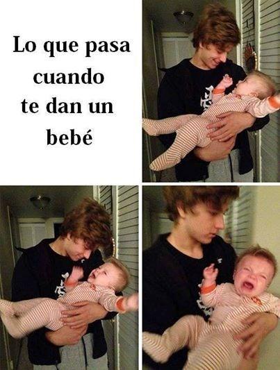 te dan un bebe