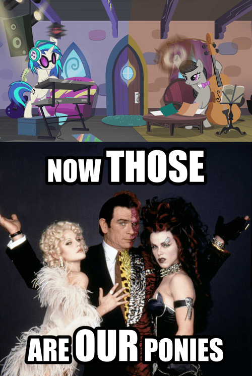 two face,batman forever,vinyl scratch,octavia