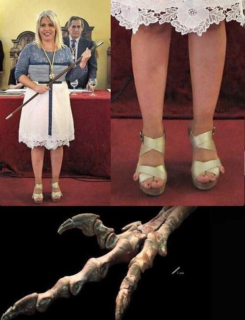 pies de velociraptor