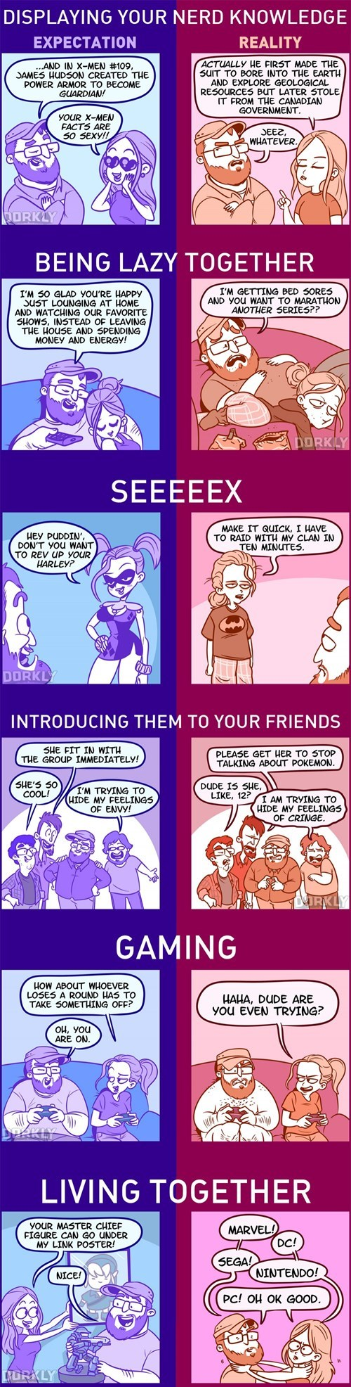 geek memes nerd dating expectations v reality