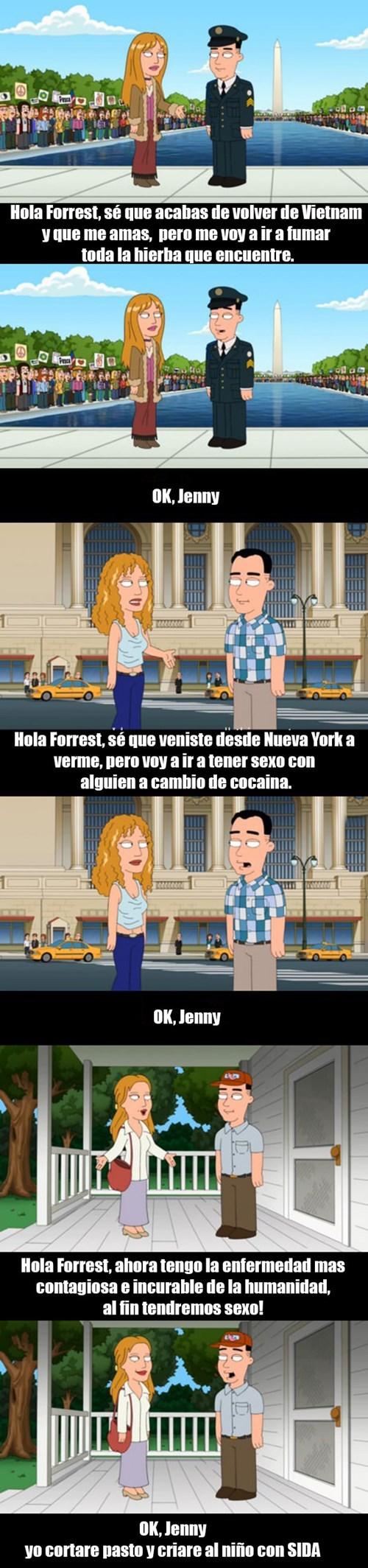 Y Forrest fue feliz