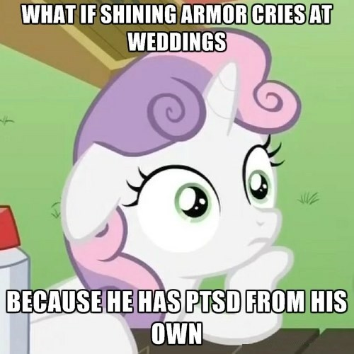 Sweetie Belle,shining armor,sudden clarity,weddings