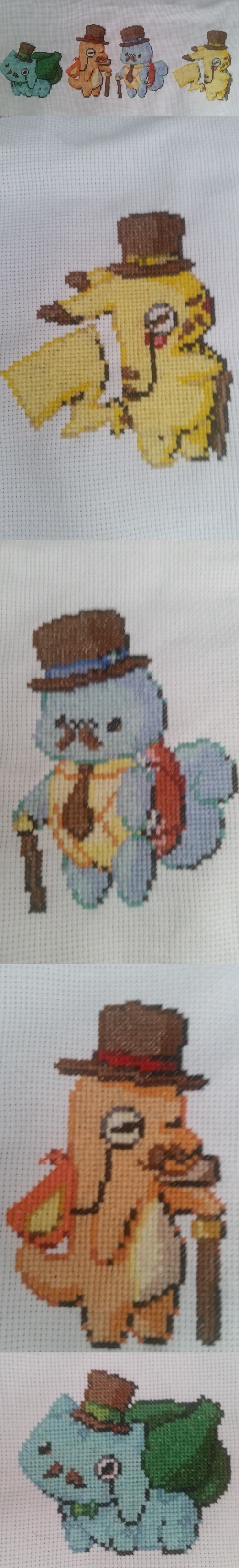 pokemon memes gentlemon cross stitch