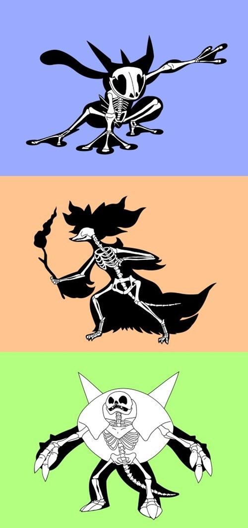 pokemon memes kalos starter skeletons