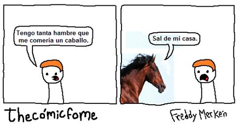 voy a comer un caballo