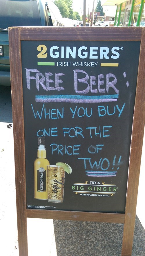 advertising beer free beer