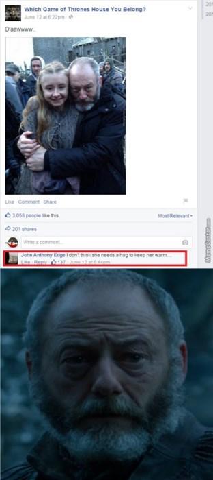 Game of thrones memes season 5 Davos spoke too soon.