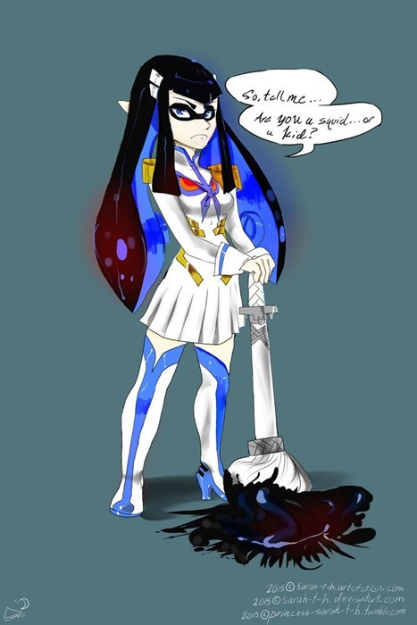 anime memes splatoon kill la kill fan art