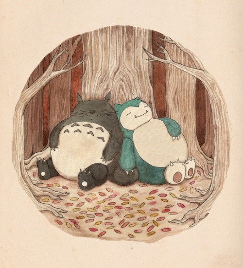Snorlax and Totoro are a Match Made in Heaven