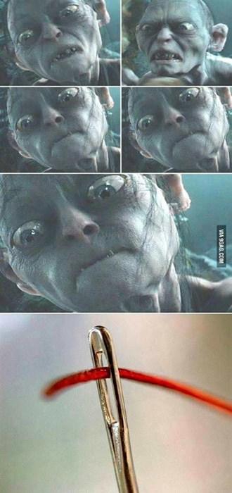 El hilo en la aguja