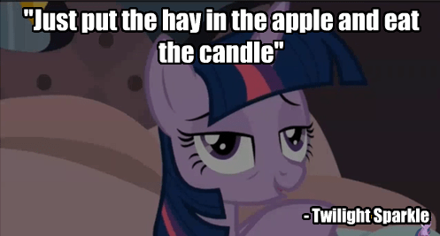 hay,twilight sparkle,unintelligible