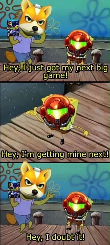 samus,starfox zero,SpongeBob SquarePants,metroid prime