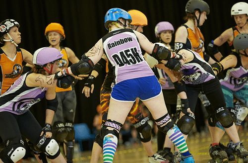 IRL Rainbow Dash Totally Plays Roller Derby
