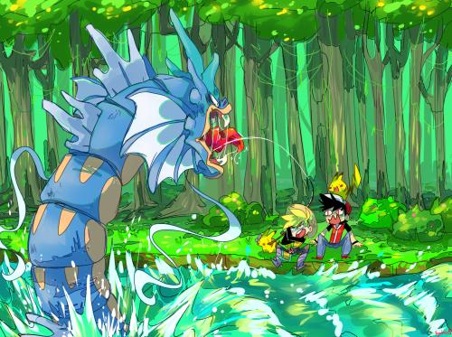 pokemon memes gyrados fishing