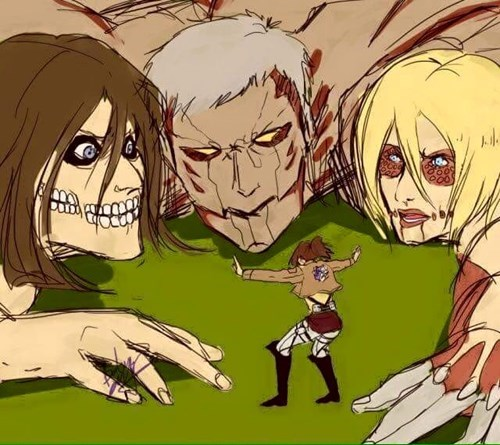 jurassic world anime attack on titan - 8514718464