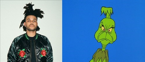 The grinch's hair looks like the weekend on a good day.