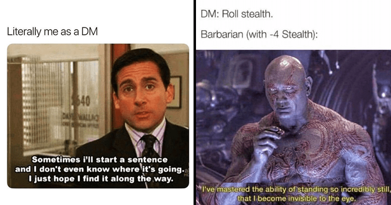 Funny dungeons and dragons memes, relatable memes, dnd memes.