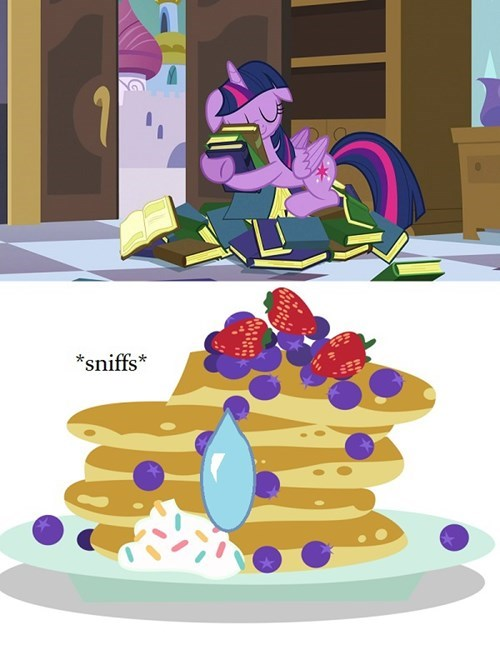 twilight sparkle,dreams,books,pancakes
