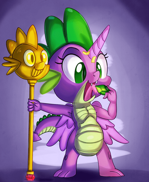 spike princess spoof alicorn twilicane - 8515906304