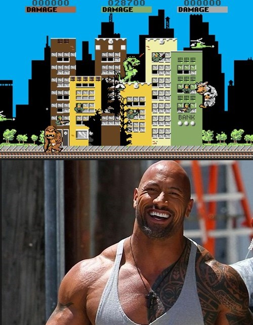 video game news rock dwayne johnson starring rampage adaptation