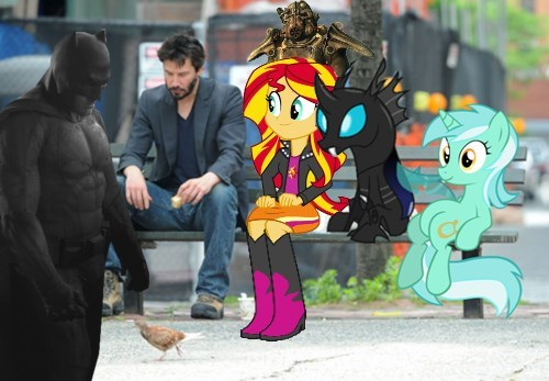 fallout 4 MLP sad keanu bench - 8516290304