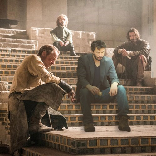 Game of Thrones memes season five Sad keanu joins the merry band.