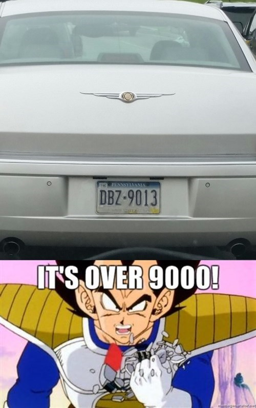 car anime over 9000 Dragon Ball Z - 8516365056