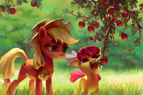 applejack Fan Art apple bloom cute - 8516713216