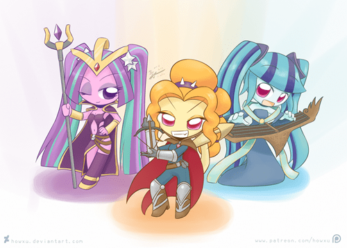 RPG,gaming,Fan Art,MLP,dazzlings