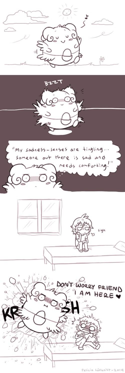 pokemon memes blissey hugs