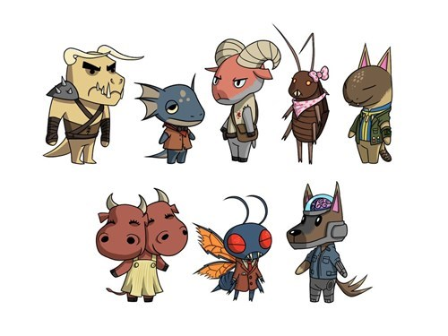 Fallout Beasts Done in the Style of Animal Crossing