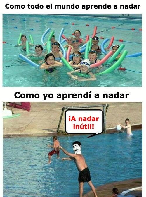 a nadar patos