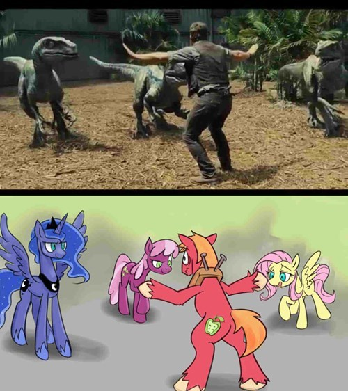 jurassic world,fillies,big mac,chris pratt