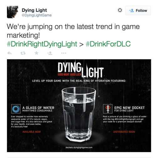 video game news dying light red bull parody
