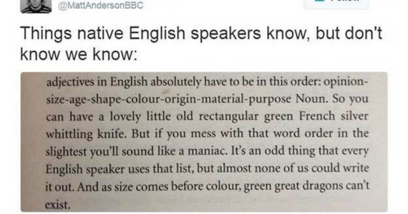 weird english rule
