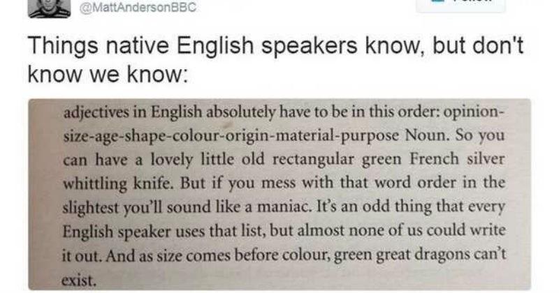 weird english rule