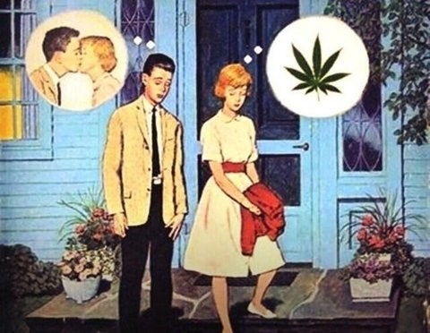marijuana comic, first date, dating, 420