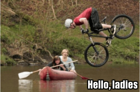 speed dating, blind date, biking, raft