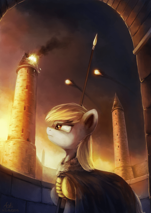 Fan Art watch tower derpy hooves - 8517874432