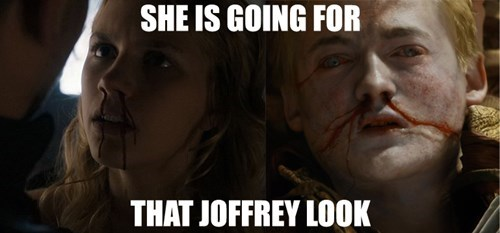 Game of Thrones memes season 5 joffrey poisoning is catching on.