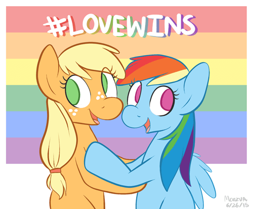 applejack gay marriage scotus rainbow dash - 8519444992