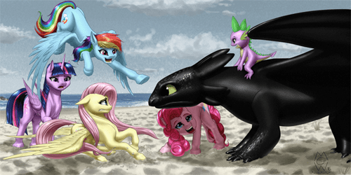 MLP toothless How to train your dragon - 8519452416
